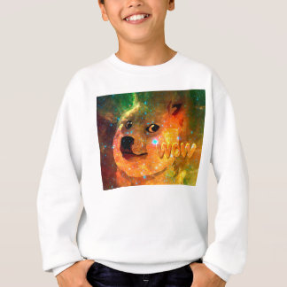 space - doge - shibe - wow doge sweatshirt
