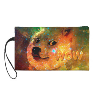 space - doge - shibe - wow doge wristlet