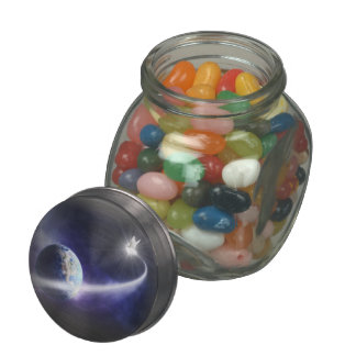 Space Dove Glass Candy Jar