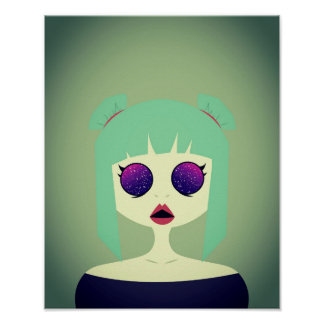 Space Eyes Poster