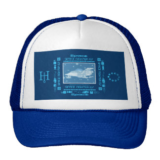 Space Fighter 67 Stars Blue & White Cap