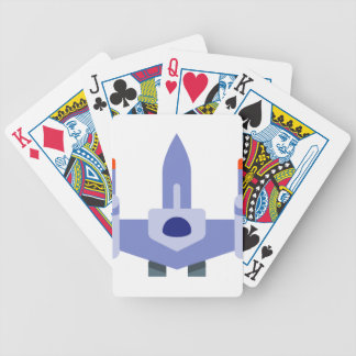 Space Fighter Bicycle Playing Cards