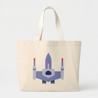 Space Fighter Large Tote Bag