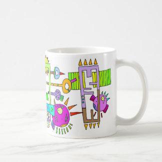 space fish coffee mug