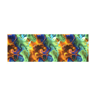 space fractal wrapped canvas