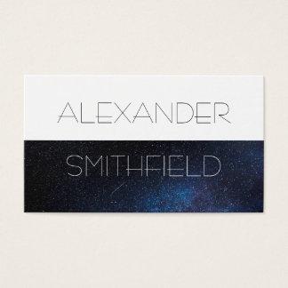 space galaxy star modern simple business card