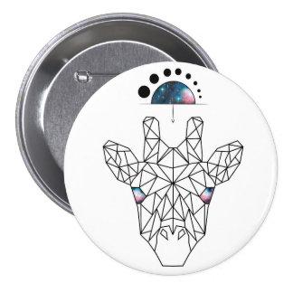 Space Giraffe 7.5 Cm Round Badge