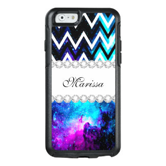 Space Glitter Stylish Cool Galaxy Chevrons OtterBox iPhone 6/6s Case