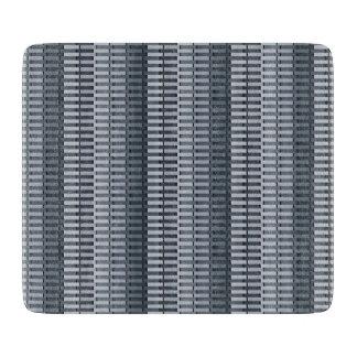 Space Gray Contemporary Stripe Pattern Cutting Board