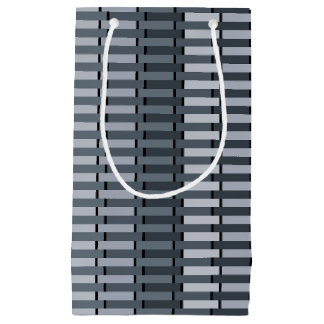 Space Gray Contemporary Stripe Pattern Small Gift Bag