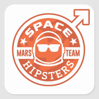 "Space Hipsters® MARS TEAM 3"" Stickers"
