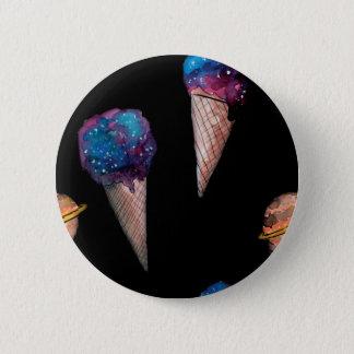 space hoists cream 6 cm round badge
