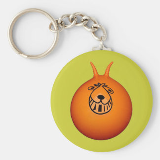 Space Hopper Keyring Orange/Green