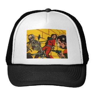 Space Horror - Vintage Science Fiction Comic Art Hats