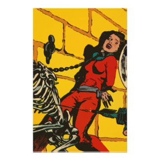 Space Horror - Vintage Science Fiction Comic Art Personalized Stationery