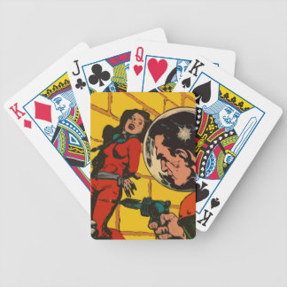 Space Horror - Vintage Science Fiction Comic Art Poker Cards