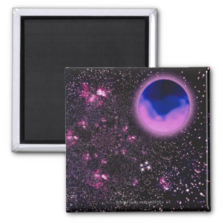 Space Image 3 Square Magnet