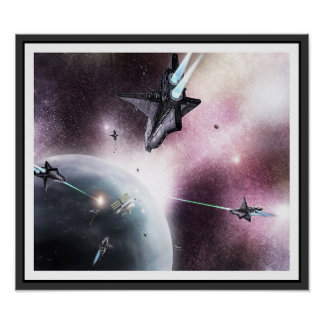 Space Invasion Poster