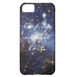 """Space iPhone cover """"look up and get lost."""" iPhone 5C Cover"""