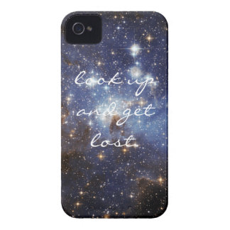 """Space iPhone cover """"look up and get lost."""" iPhone 4 Case"""