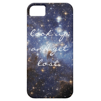 """Space iPhone cover """"look up and get lost."""" iPhone 5 Cover"""