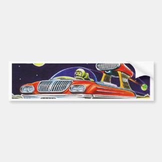 SPACE JET CAR BUMPER STICKER