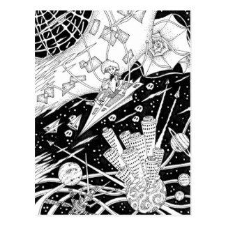 Space kite postcard