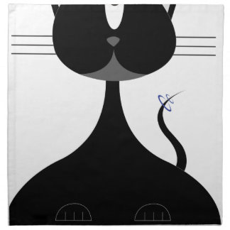 Space kitty napkin