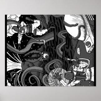 Space Kraken Poster