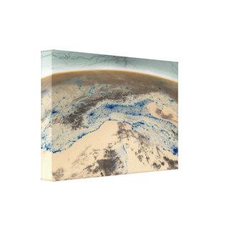 Space Lightning Canvas Canvas Print