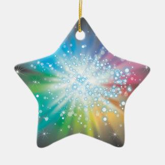 Space Lights Ceramic Star Decoration