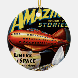 Space Liners Ceramic Ornament