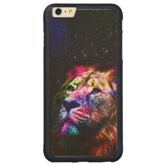 Space lion _caseSpace lion - colorful lion - lion Carved Maple iPhone 6 Plus Bumper Case