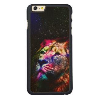 Space lion _caseSpace lion - colorful lion - lion Carved Maple iPhone 6 Plus Case