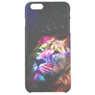 Space lion _caseSpace lion - colorful lion - lion Clear iPhone 6 Plus Case