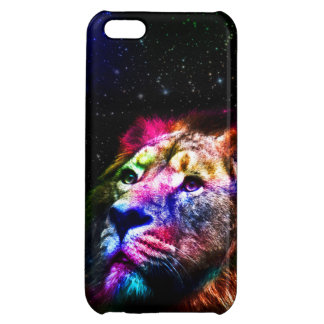 Space lion _caseSpace lion - colorful lion - lion iPhone 5C Case