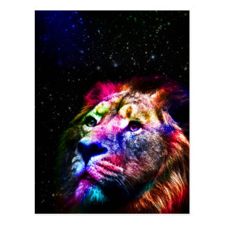 Space lion _caseSpace lion - colorful lion - lion Postcard