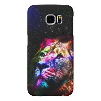 Space lion _caseSpace lion - colorful lion - lion Samsung Galaxy S6 Cases