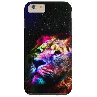 Space lion _caseSpace lion - colorful lion - lion Tough iPhone 6 Plus Case