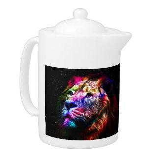 Space lion - colorful lion - lion art - big cats