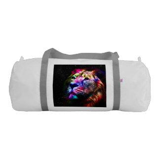 Space lion - colorful lion - lion art - big cats gym bag