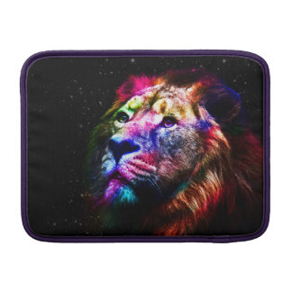 Space lion - colorful lion - lion art - big cats sleeve for MacBook air
