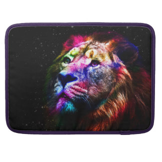 Space lion - colorful lion - lion art - big cats sleeve for MacBook pro