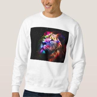 Space lion - colorful lion - lion art - big cats sweatshirt