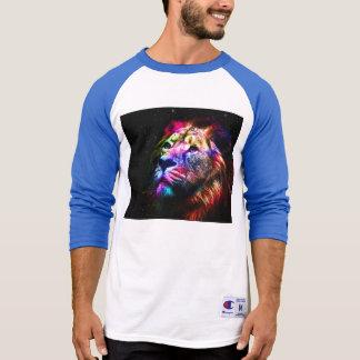Space lion - colorful lion - lion art - big cats T-Shirt