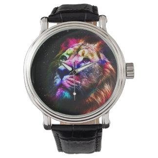 Space lion - colorful lion - lion art - big cats watch