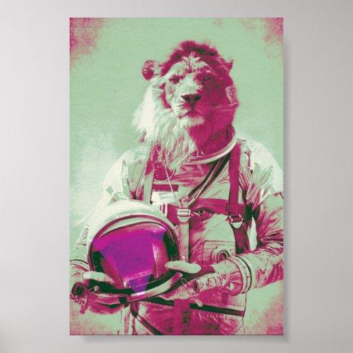 space lion print