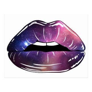 Space Lips Postcard