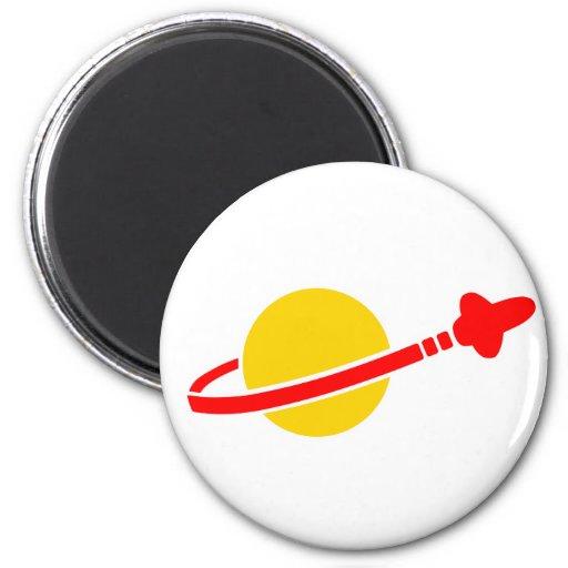 space logo refrigerator magnet