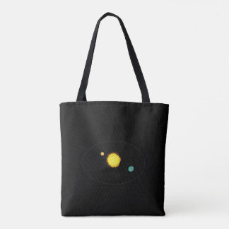 Space look design tote bag